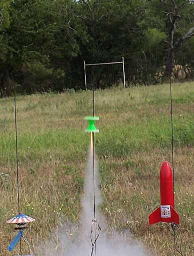 Hourglass rocket